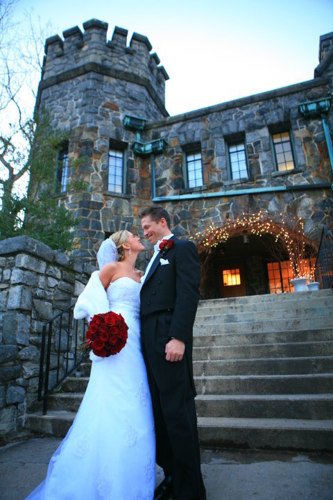 Homewood ryan bumgarner photography bride and groom portrait photograph outside in front of the castle at homewood wedding venue in junglespirit Gallery