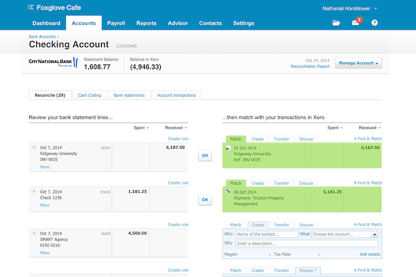 Xero Super Simple Bank Reconcilation