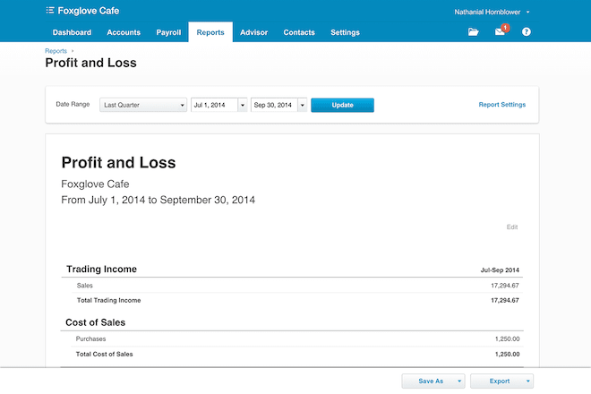 Xero Crystal Clear Financial Reporting
