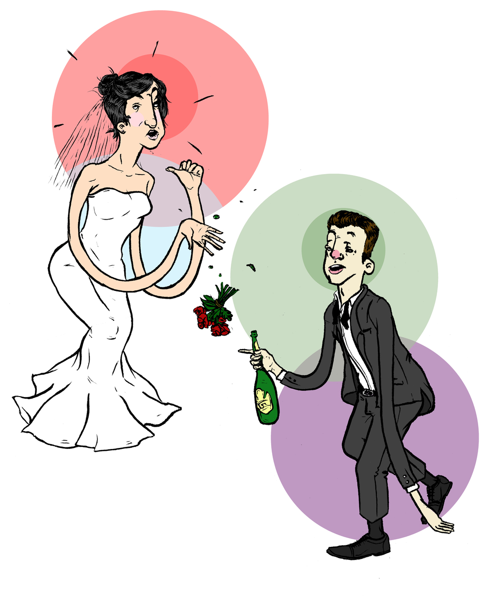 Done for an indy wedding magazine.
