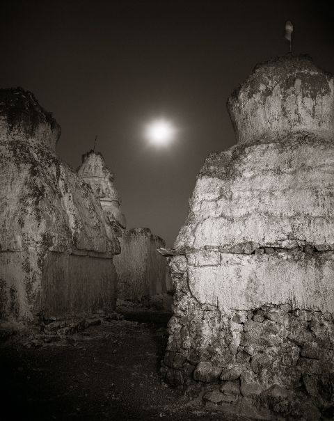 Linda Connor |  Moon and Chortens