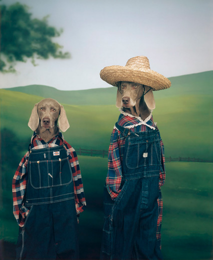 William Wegman, Farmer and Son, 1994/2009