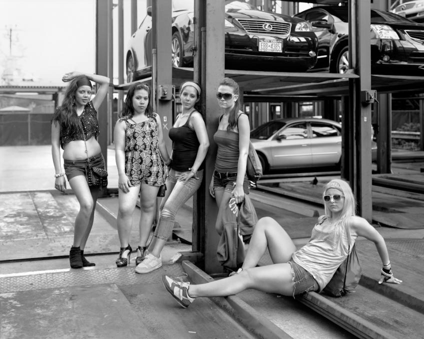 Nexi, Beth, Jesmary, Alyson, Erika, Bianca , 2011   ©  Richard Renaldi, from Manhattan, Sunday