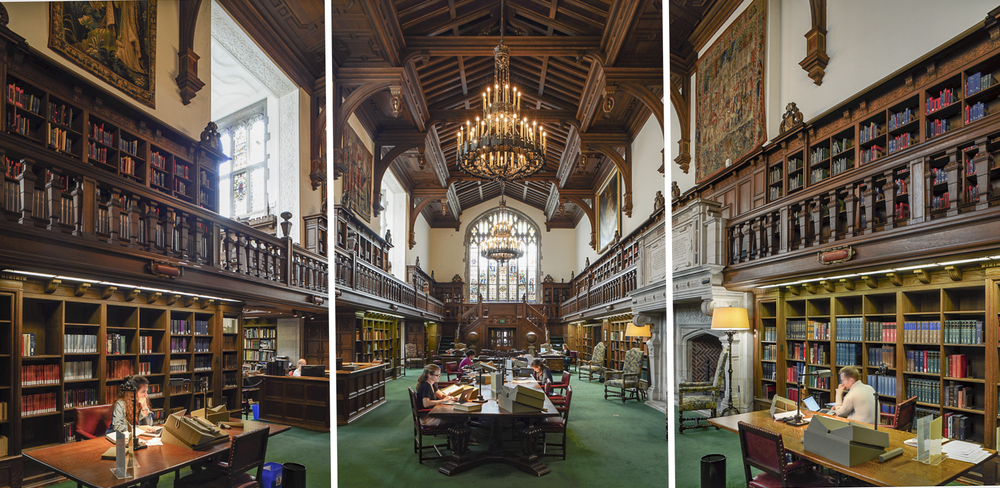Reading Room triptych, Folger Shakespeare Library project