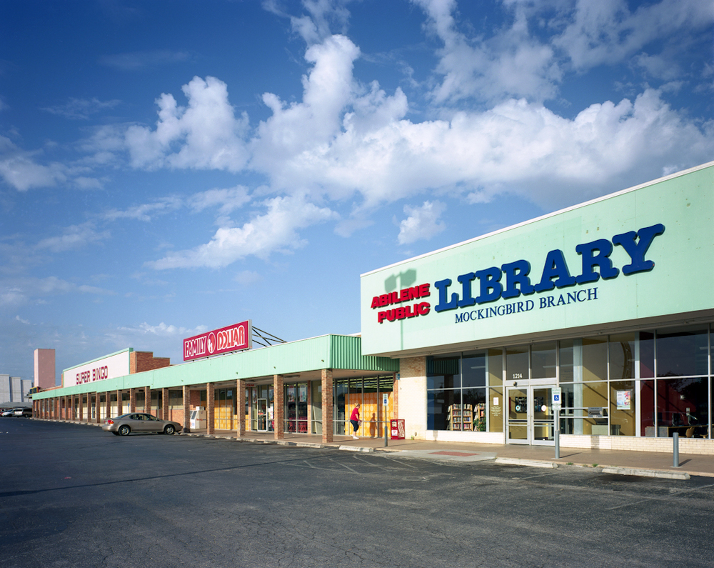 Branch Library, Family Dollar and Super Bingo, Abilene, Texas from the Public Library project