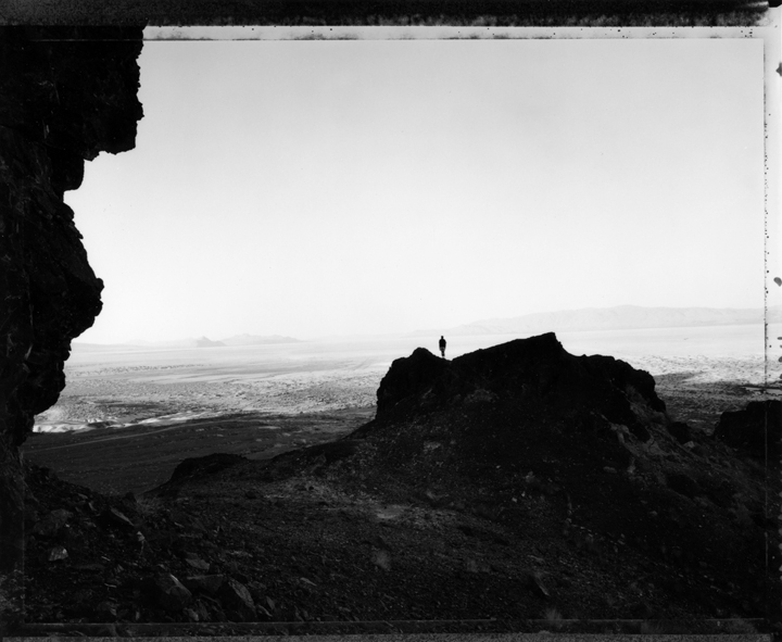 © Mark Klett  Facing South, Sunrise at Black Rock, Nevada, 9/18/00                          gelatin silver print