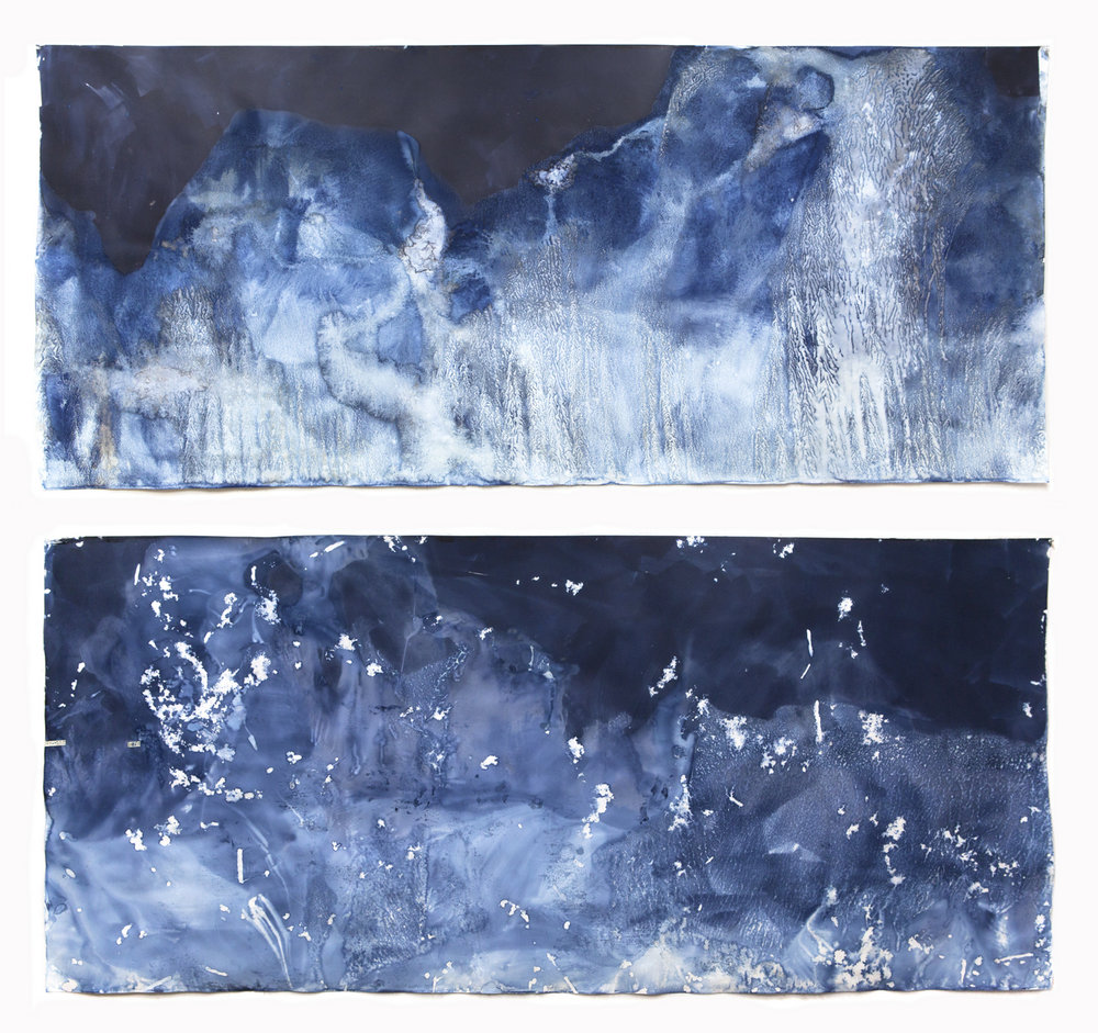 © Meghann Riepenhoff     Cyanotypes         Recent work from a residency at the John Michael Kohler Center for the Arts, Sheboygan, WI.