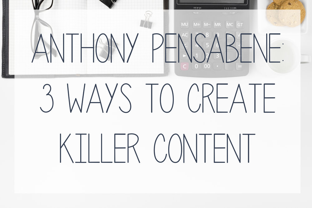 Today's guest blog comes from Anthony Pensabene, an SEO expert, who is breaking down how to create content that not only drives traffic to your website, but is content your audience actually cares about.