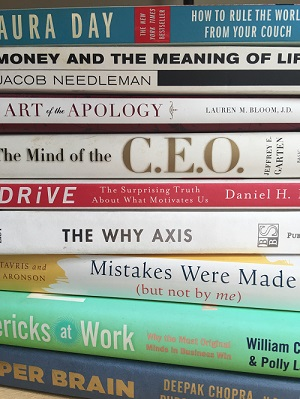 Tuni's Book Pile...filled with daily, positive information