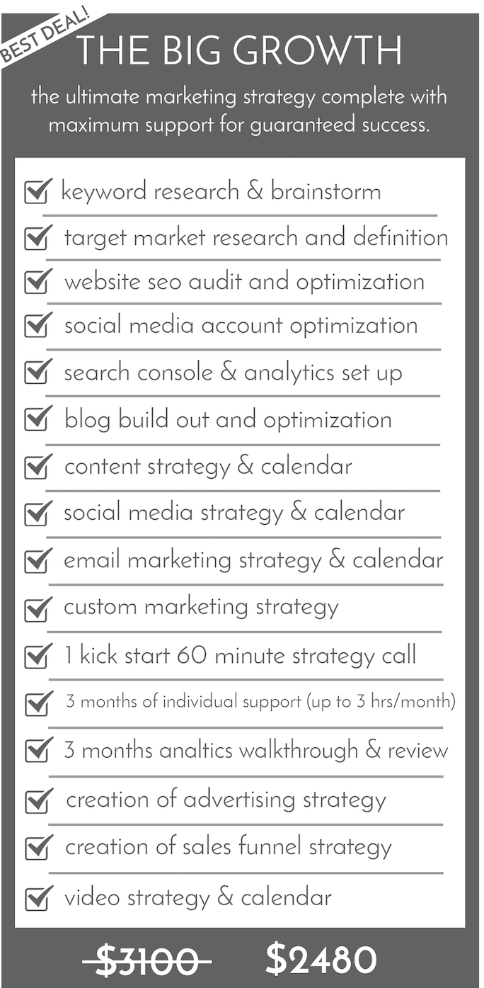 digital marketing packages for small businesses