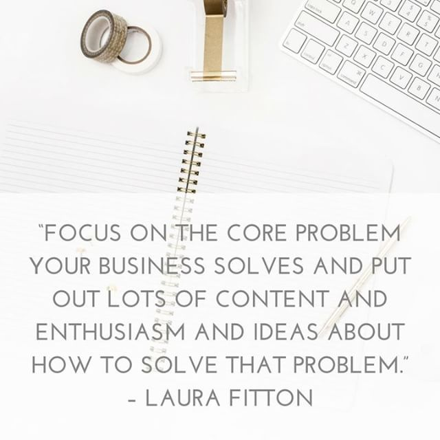 """Focus on the core problem your business solves and put out lots of content and enthusiasm and ideas about how to solve that problem."" – Laura Fitton --- We all know that creating original content is one of the best ways to authentically drive more website traffic and connect with potential customers or clients. --- But how do you do that so it actually relates back to your business? 🤷🏻‍♀️ --- I LOVE this quote because the advice is clear, simple and effective. Make sure your content does what your business does - solves a problem! . . . #businesshacks #growyourbusiness #marketingtools #smallbizlife #smallbiztips #smallbizmarketing #smallbusiness #smallbusinessmarketing #smallbusinesses #marketingdigital #marketingonline #smallbusinesslove #smallbizowner #marketingstrategy #marketingplan #marketinglife #tipoftheday #hubdigital #marketinghacks #google #googletrends #contentmarketing #seo #searchengineoptimization"