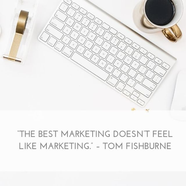 """""""The best marketing doesn't feel like marketing."""" – Tom Fishburne⠀ ---⠀ Yes, it's true that a general rule of marketing has been to try to be as subtle as possible. But, in the age of the internet, it's become even more important to market in a way that doesn't just """"push"""", but instead also provides value.⠀ ---⠀ People are inundated daily with advertising and marketing. If you want to stand out, you have to be able to provide your consumer with something they can't get anywhere else - your knowledge and expertise.⠀ ---⠀ Give them that, and you'll be marketing yourself in a way no one else can.⠀ .⠀ .⠀ .⠀ #givevalue #value #contentmarketing #contentcreation #google #onlinemarketing #digitalmarketing #marketingstrategy #marketingdigital #marketingplan #businessgrowth #workonyourbusiness #marketinglife #smallbizowner #smallbizlife #smallbusinessowner #smallbusinesslife #hubdigital"""