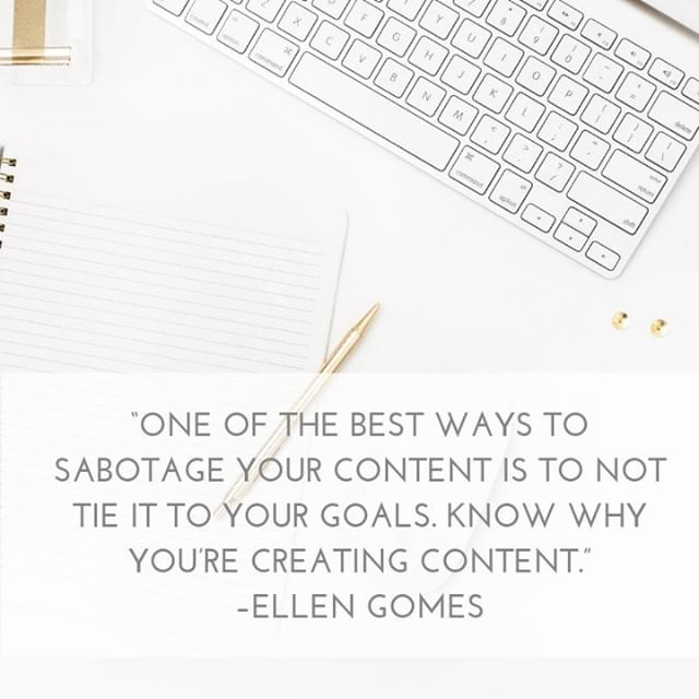 """One of the best ways to sabotage your content is to not tie it to your goals. Know why you're creating content."" –Ellen Gomes⠀ ---⠀ Creating content for the sake of content is one of the best ways to spin your wheels working with no results.⠀ ---⠀ Your content should be focused on providing value AND driving results for your business.⠀ ---⠀ Your content should lead them toward taking the next step in engaging with your business. It should tie together with your end sales goes and relate logically in the mind of your consumers.⠀ ---⠀ Work Smarter, Not Harder!⠀ .⠀ .⠀ .⠀ #worksmarternotharder . #givevalue #value #contentmarketing #contentcreation #google #onlinemarketing #digitalmarketing #marketingstrategy #marketingdigital #marketingplan #businessgrowth #workonyourbusiness #marketinglife #smallbizowner #smallbizlife #smallbusinessowner #smallbusinesslife #hubdigital"