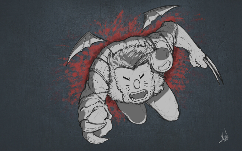 Wolverine...if he were a moogle...because why the heck not?