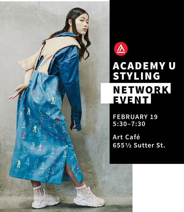 Styling Meet-up is tonight! From 5.30PM to 7.30PM, at Art Café, 655 Sutter St, SF. - Come and meet at the event fashion styling, photography, design students and alumni, as well as models, makeup artists and hair stylists.  If you want to do test shoots this semester, it is your opportunity to meet your collaborators. Register in the link ☝️ We hope to see you there! - Photo: @mikeying Styling: @krystynkikuestyling Dress @z1b0_wang Model: @itstiffyg@starsmodelmanagement  Makeup: @jasonalexmakeup  Hair and assistant: @_quanniibell  #fashionmeetup #meetup #editorial #sf#sfstylist #sfmakeup #sfhairstyling#sfmodel #model #stylist #fashionstylist#wherestylistsaremade#academyufashion #academy_of_art