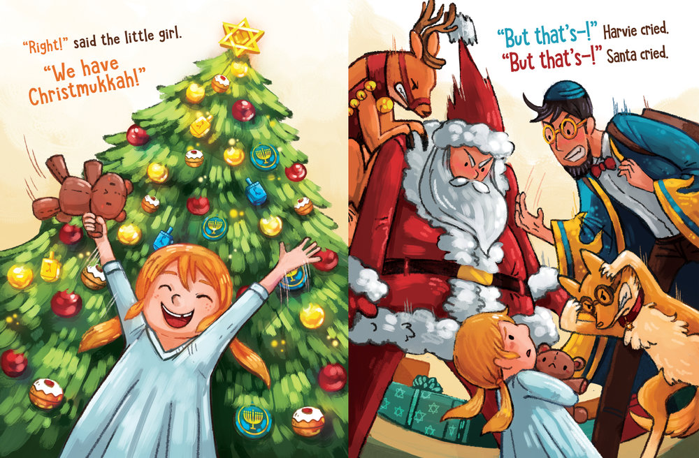 Hanukkah Harvie Vs. Santa Claus,   Published by Library Tales Publishing.