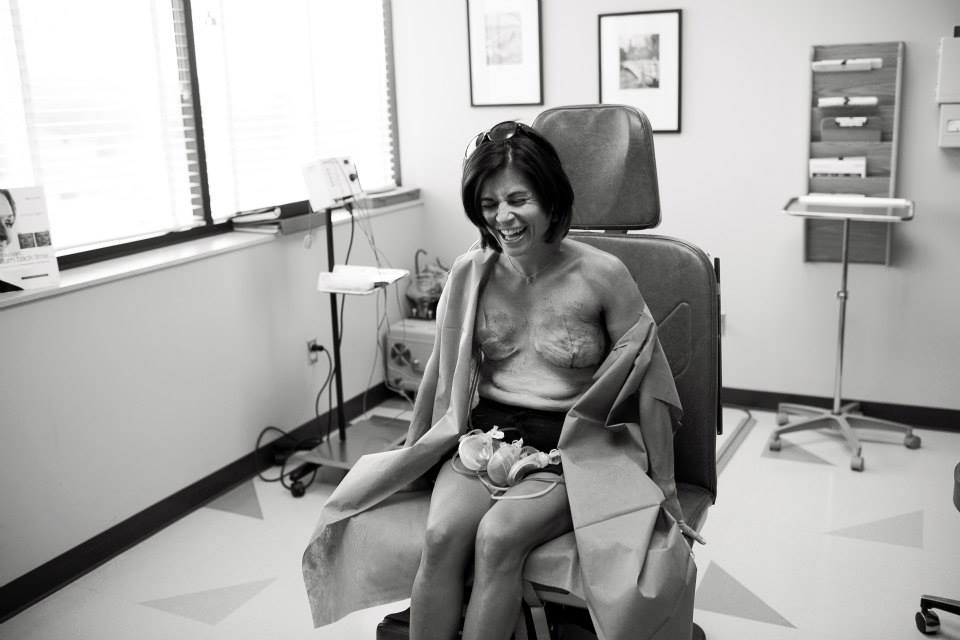 Laughing is not offensive but sitting there with tubes, amputated breasts and the fear they did not get all the cancer is by far offensive