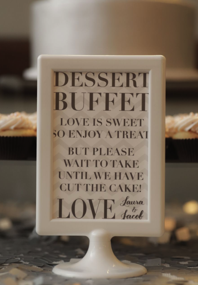 LMS Designs // Dessert buffet sign