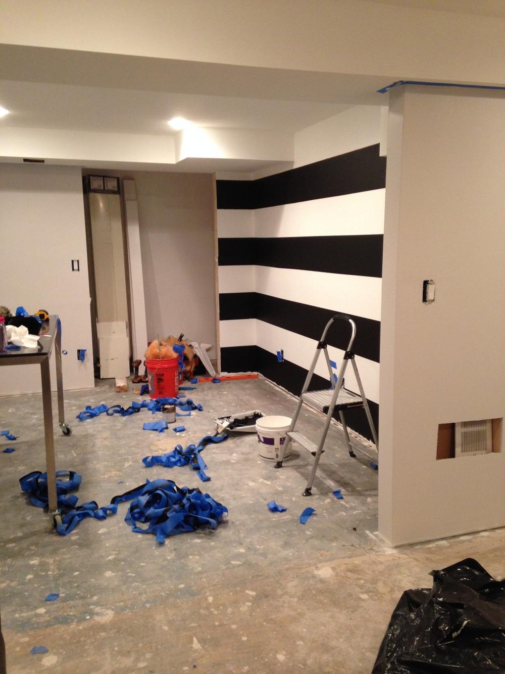 LMSDesigns home studio + basement renovation