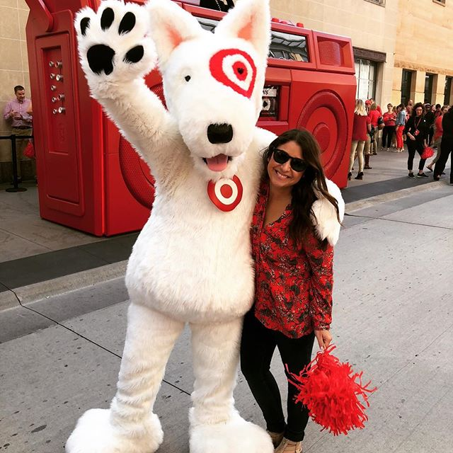 I have worked for @target for 7 years and have yet to take a picture with the real Bullseye, so this will have to do until I get the chance. Love my job, love my team, love target 🎯 ❤️ #teamtarget #fnm2018 #bullseyesplayground