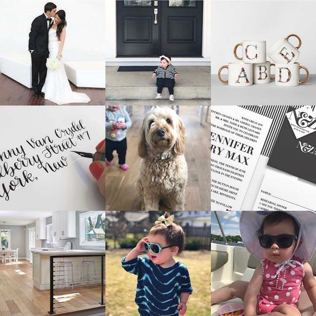 Perfectly sums up 2018! A little target product, #calligraphy, best friends #weddinginvitations, moving into our renovated house, #minigoldendoodles, celebrating our 5 year wedding anniversary, and a lot of #avacharlotte #topnine