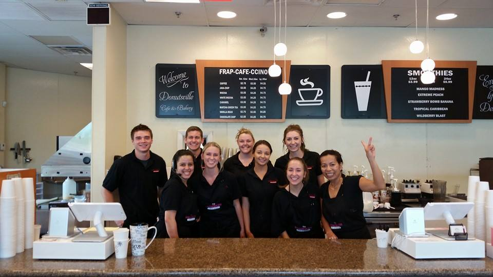 Just many of our wonder Donutsville employees