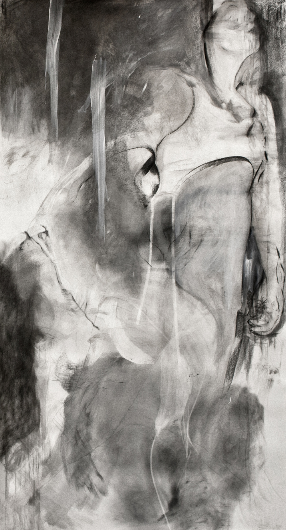 "Betwixt, Mixed Media on Paper, 50"" x 90"", 2012"