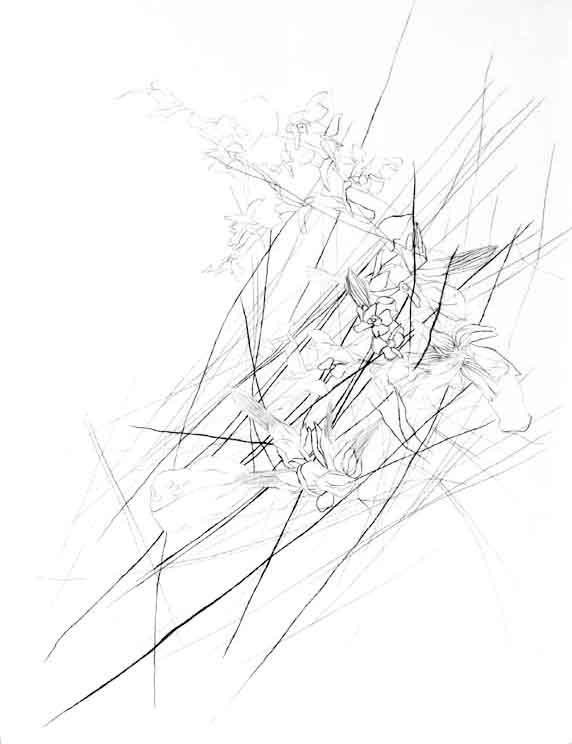 "Untitled 8, Pencil on Dura-Lar, 9"" x 12"", 2014"