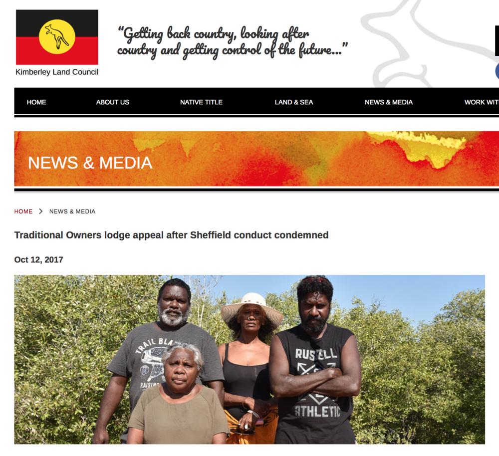 Traditional Owners lodge appeal after Sheffield conduct condemned