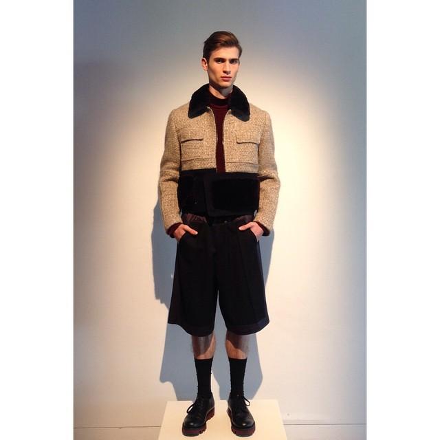 FBP/L Woolmark Prize outfit. Wool 6 ways. Fleece, reconstituted, waterproof, virgin, super 120s, cut pile Jersey | @thewoolmarkcompany @jimmygatenby | #woolmarkprize #frombritten