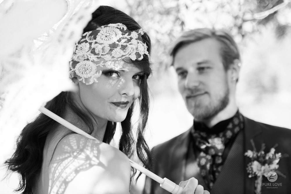 boho wedding black and white