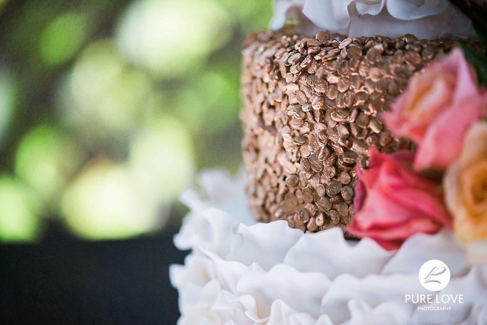 Bay of Plenty Wedding Cake Gold White