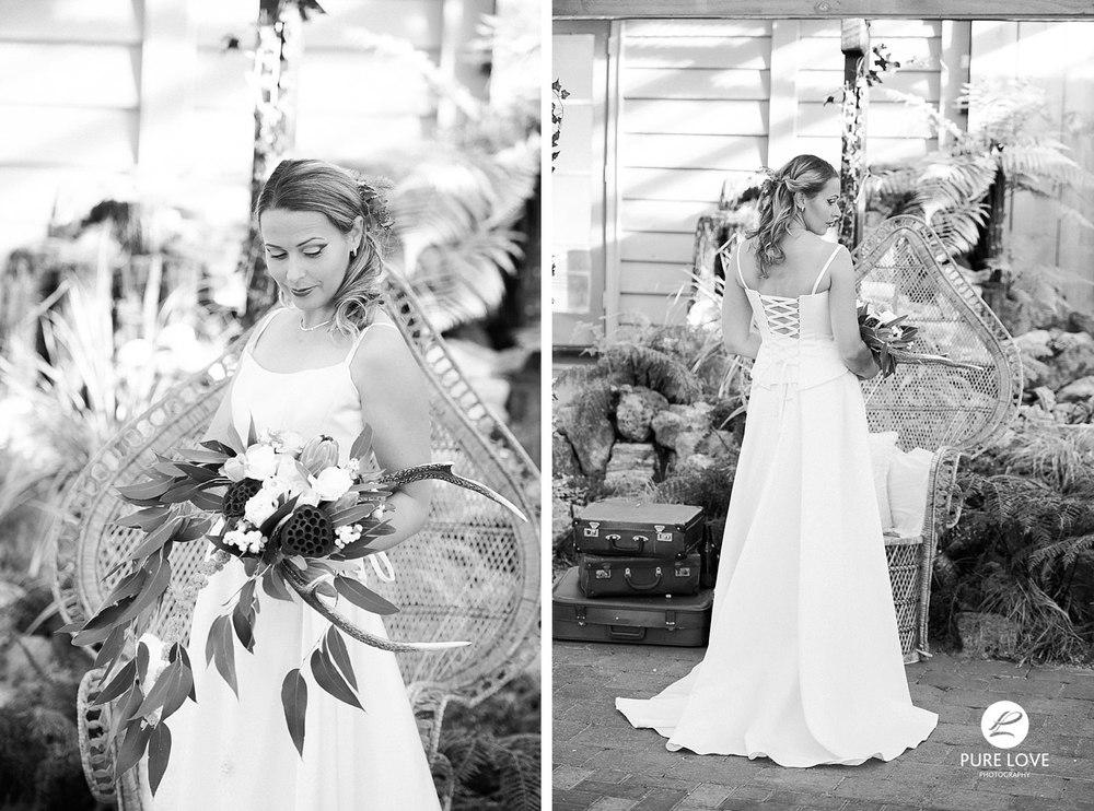 barn wedding black and white