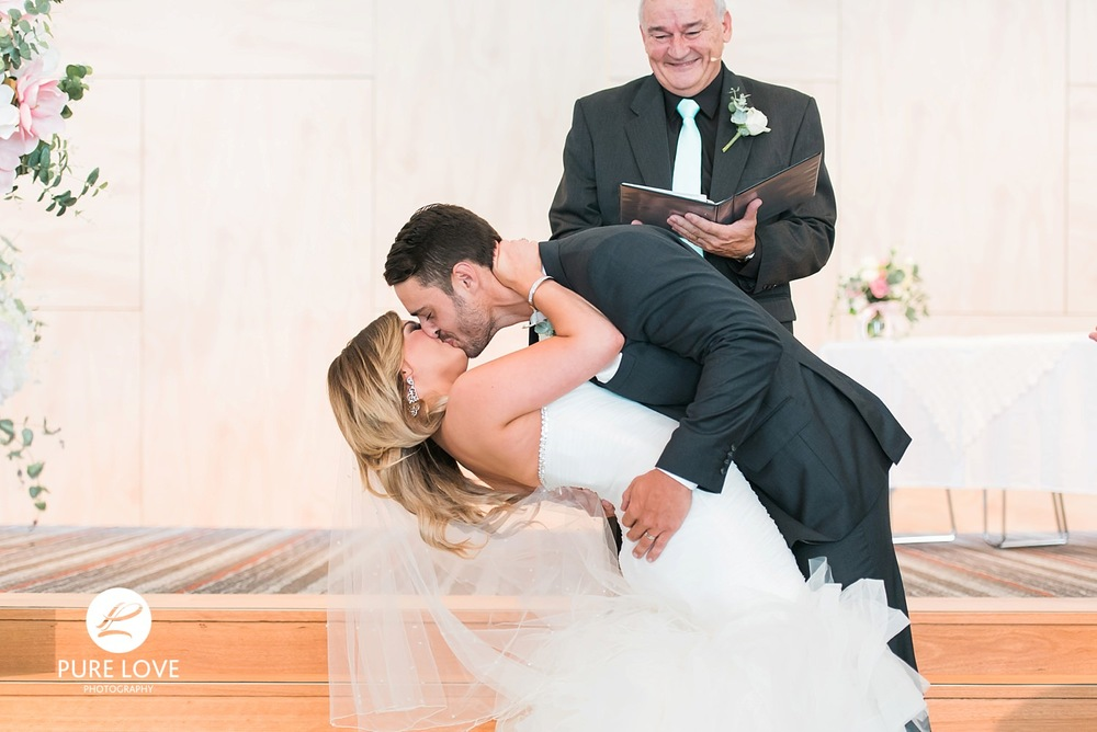 first kiss at ceremony