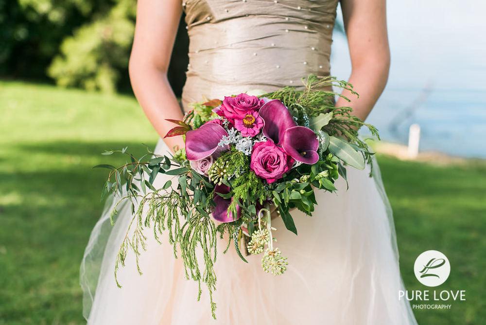 Rustic bridal bouquet tauranga