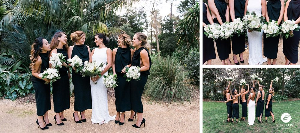 black backless bridesmaid dress