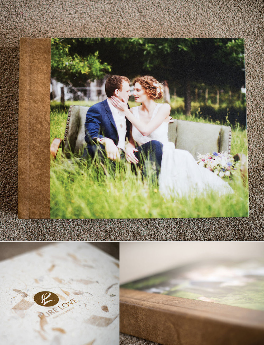 pure love photography wedding album