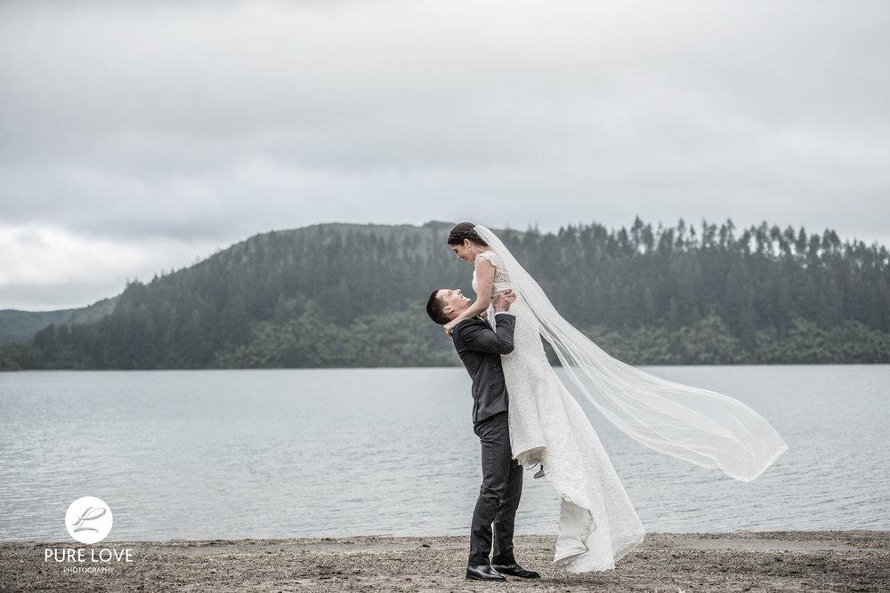 Blue lake wedding Rotorua