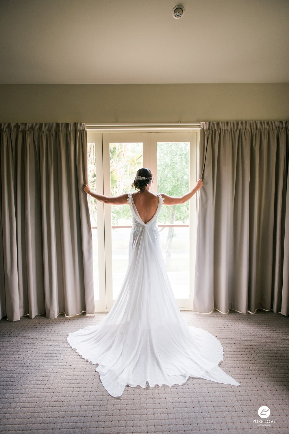 beautiful bridal dress curtains photo