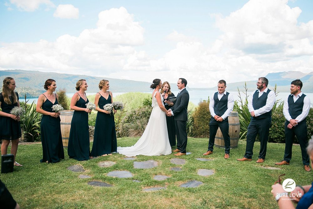 ceremony bridal party