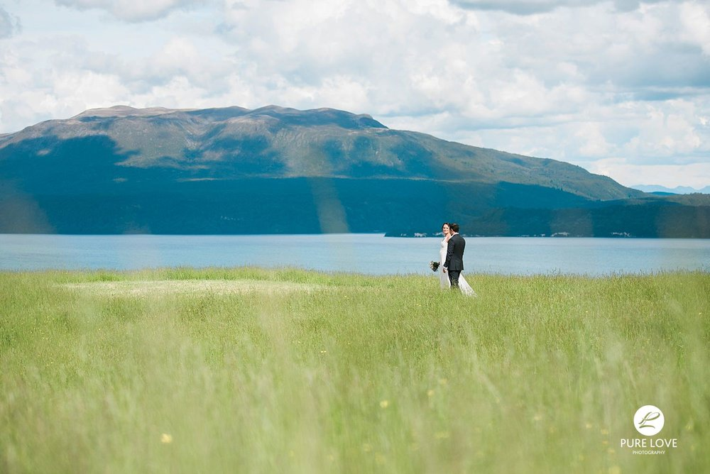 mount tarawera wedding scene