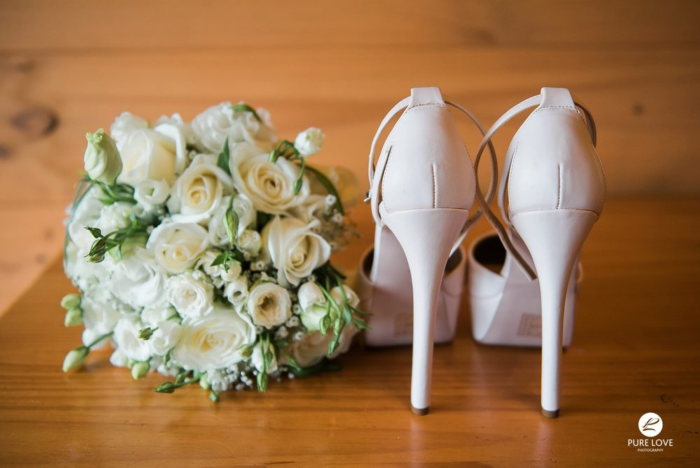 wedding high heels, wedding photography details