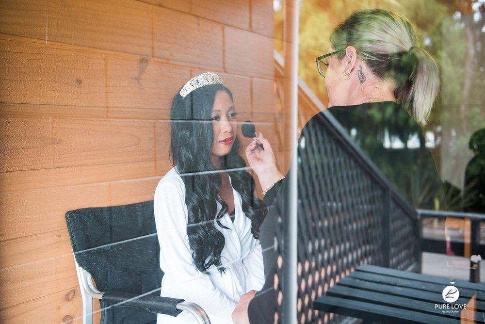 wedding makeup, bride's getting ready process