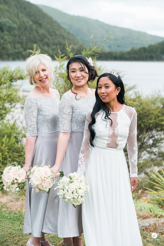 bridesmaids light grey dresses