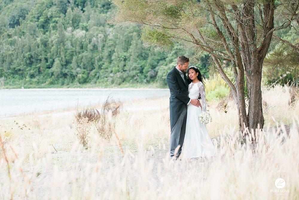 lake okataina wedding photo