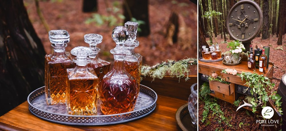 whiskey bar in the forest