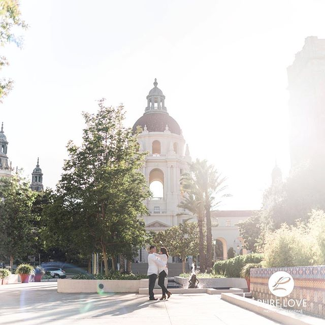 Daisy and Andrew, thank you for allowing us to capture your LOVE ❤️ . . #epicengagement #romanticengagementphotos #pasadenacityhall #love #rotoruaengagementphotographer #nzphotographer #destinationweddingphotographer #beautifullight