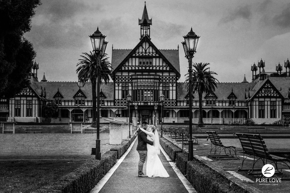 rotorua government gardens wedding