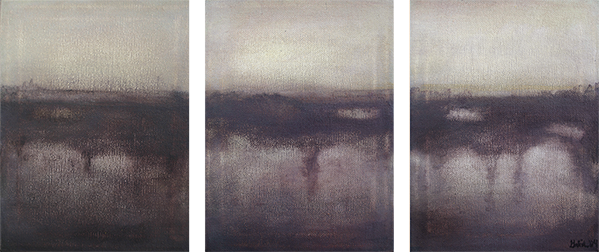 triptych at dawn, 2004