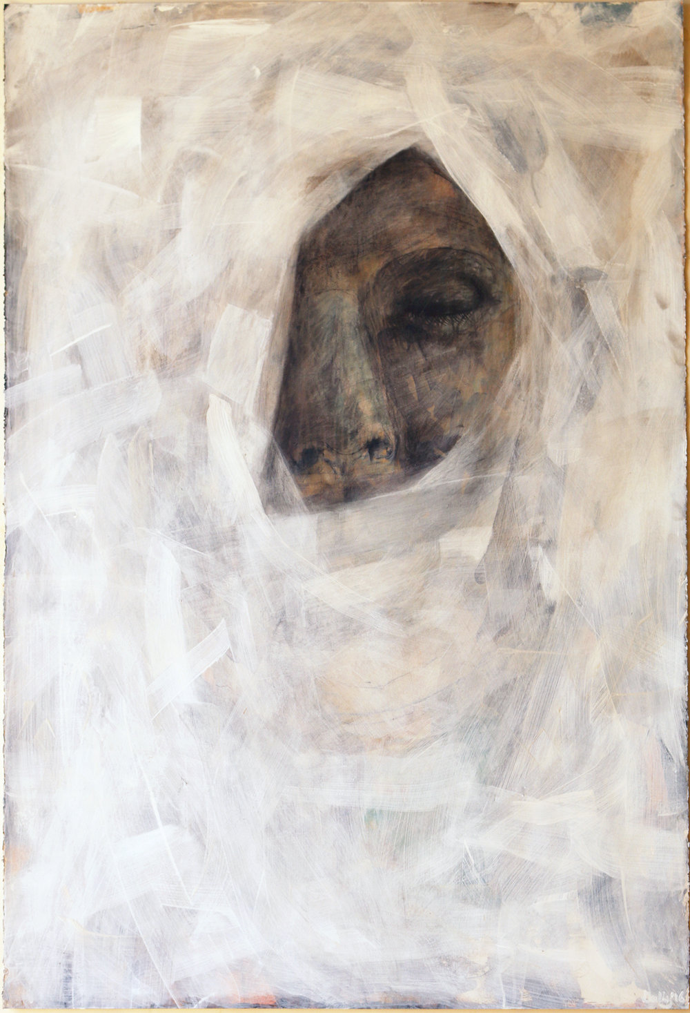 veiled figure